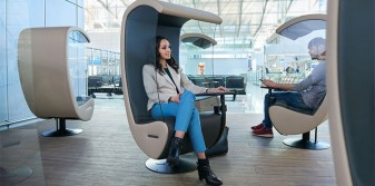 Frankfurt Airport focuses on relaxation with new silent chairs and yoga rooms
