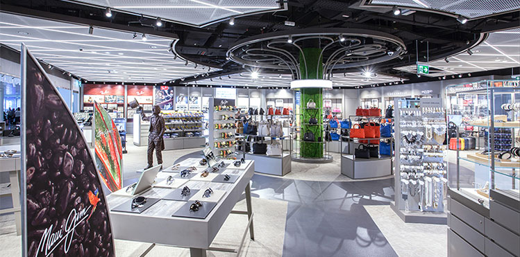 In three outlets covering a total of 2,600sqm, the MyDutyFree retail concept offers a wide range of fragrances, cosmetics, spirits, tobacco, toys and confectionery