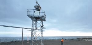 Remote tower installation at Örnsköldsvik in Sweden. Remote tower technology draws on a range of advanced technologies, including high-definition, infrared and pan-tilt-zoom cameras to provide visual surveillance augmented by available radar and flight data to deliver additional information in real time.