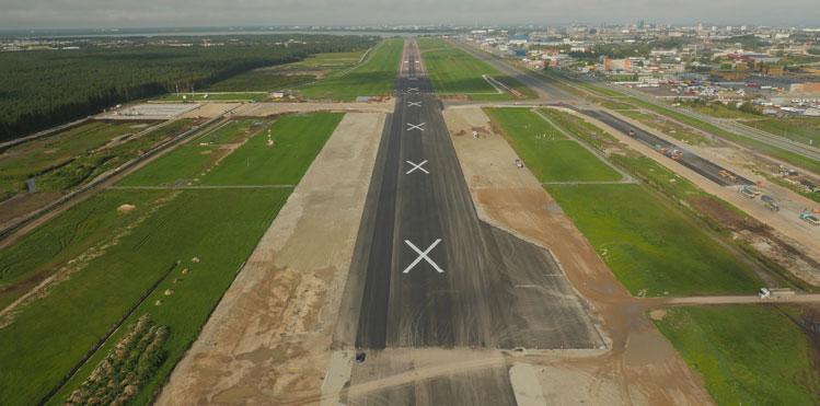 tallin airport aerial view