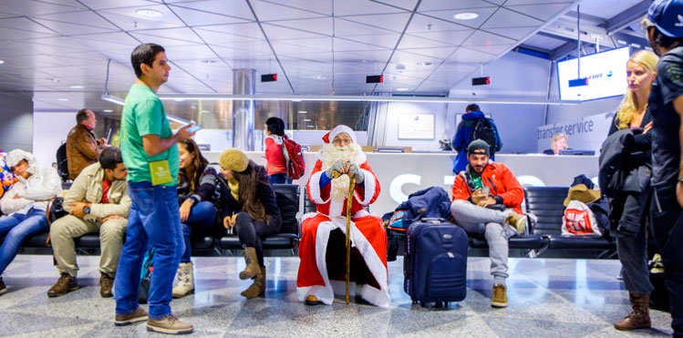 Santa Claus is visiting Helsinki Airport between 1-23 December to spread Christmas cheer to both the older and younger travellers.