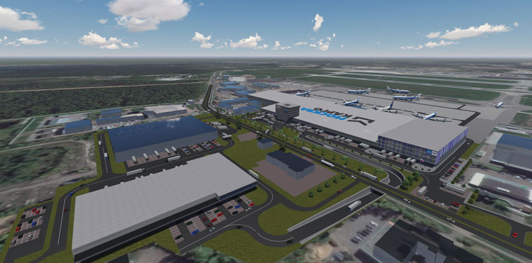 The implementation of the development programme will help Sheremetyevo Airport become one of the largest cargo hubs in the world. The new cargo complex, worth $85 million (€80m), will be able to handle up to 380,000 tons of cargo per year. Total area of the new cargo terminal will be 47,000 sqm.