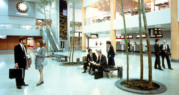 The original check-in area of the passenger terminal in 1987.