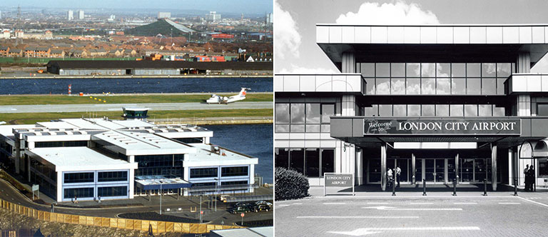 London City Airport released unseen retro photos to mark the start of its 30th anniversary year
