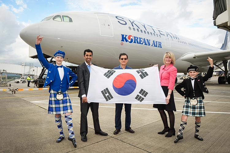 successful Korean Air charters