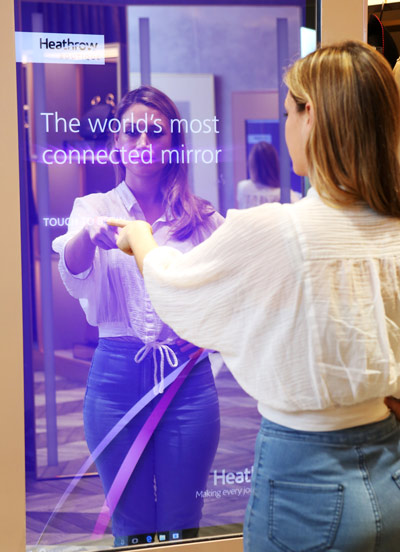 Heathrow Terminal 5 interactive mirror