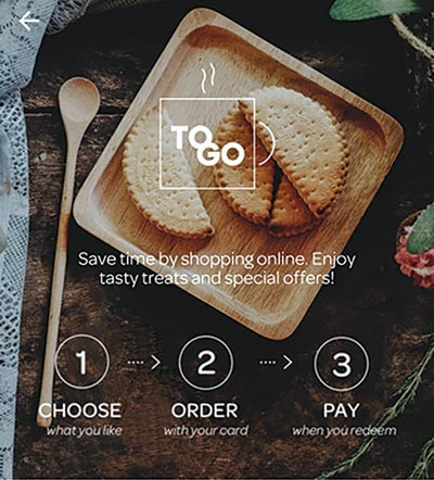 Helsinki Airport's 'ToGo' service allows passengers to avoid queues by pre-ordering F&B items.