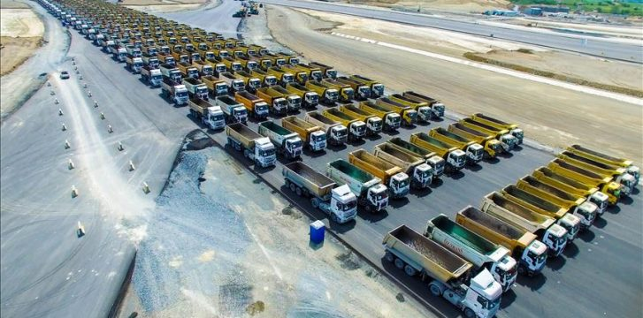 Istanbul New Airport attempts world record for 'Longest Truck Procession'