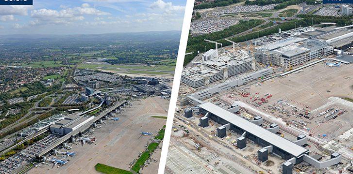 Manchester Airport celebrates a year of construction on £1bn transformation programme