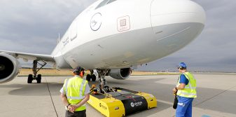 Fraport and Lufthansa co-testing remote-controlled aircraft tug at Frankfurt Airport