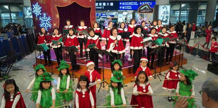 Airports creating holiday spirit for passengers around the world