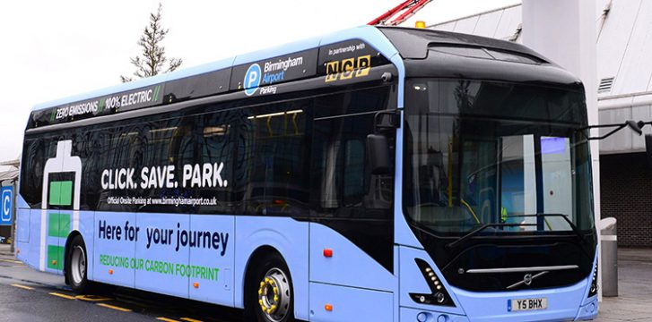 Birmingham Airport launches fully-electric bus fleet