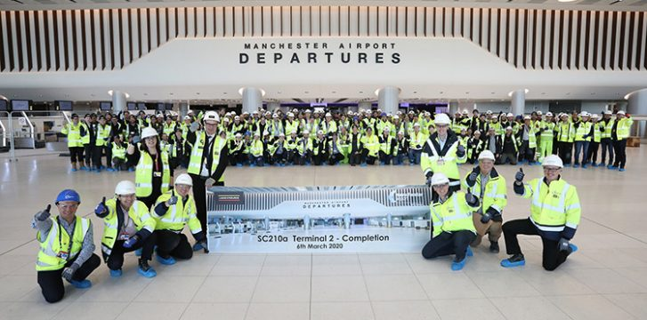 Main build phase completed on Manchester Airport's Terminal Two extension