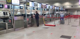 Moscow Domodedovo Airport implements COVID-19 social distancing measures