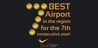 Budapest Airport wins seventh consecutive Skytrax Award