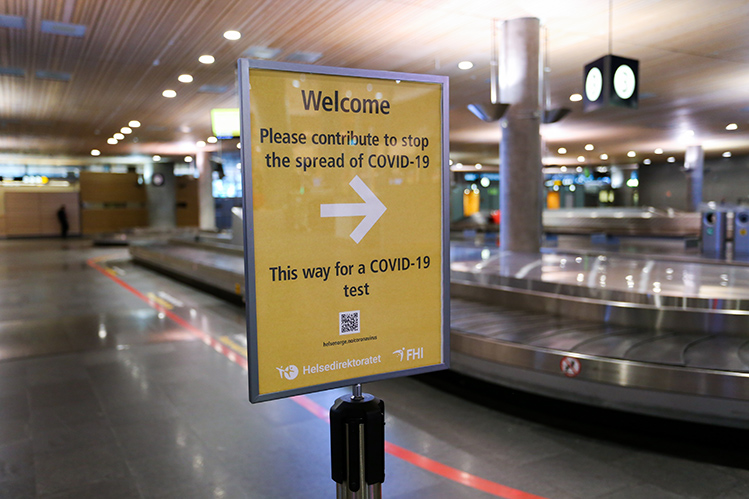 Covid 19 Testing Centre Opens In Avinor Oslo Airport Baggage Hall Airport Business