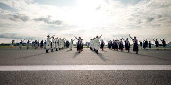 Gatves Deja national dance on Riga Airport runway wins IPRA Golden World Award