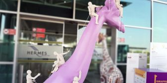 Hermes Airports hosts 'Giraffes for Hope' exhibition at Larnaka Airport