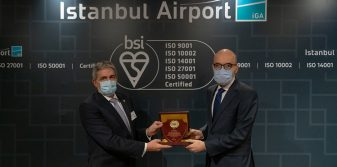 "Istanbul Airport recognised for ""Quality, Customer Satisfaction, Environment, Information Security and Energy Management"""