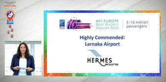 Larnaka Airport highly commended at ACI EUROPE Airport Awards 2020