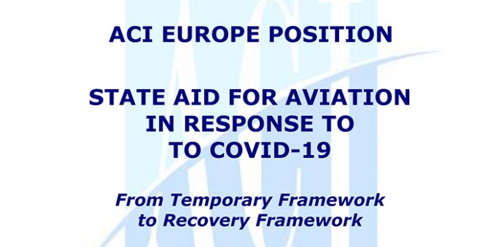 Airports call for urgent State aid through the adoption of an EU Recovery Framework for Aviation