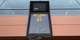 ADB SAFEGATE provides safe, fast and precise aircraft docking at Salt Lake City Airport